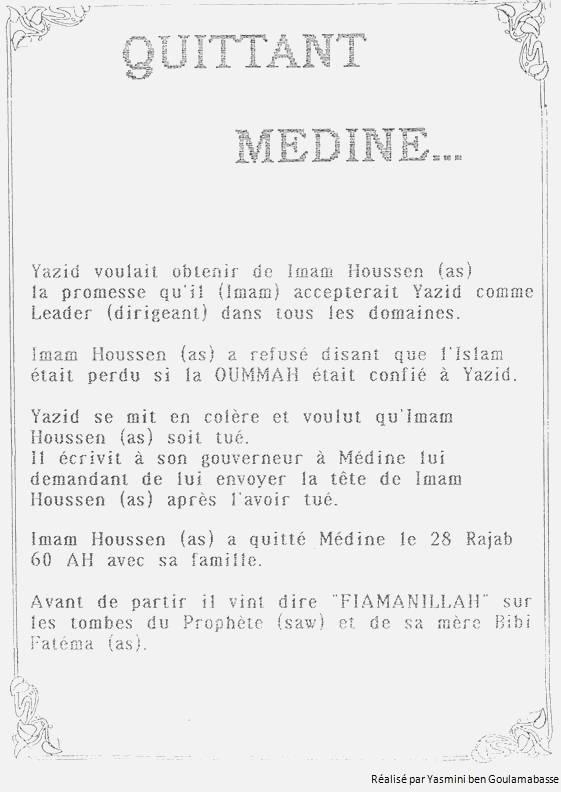 Quittant Médine